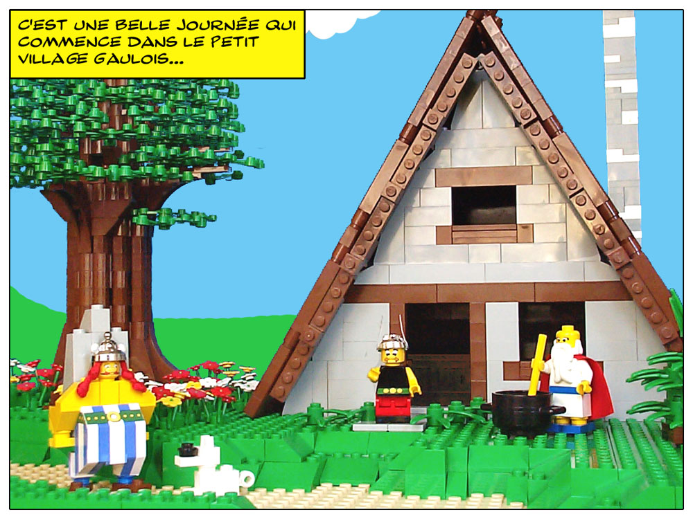 asterix the gaul playset custom moc models made of lego bricks
