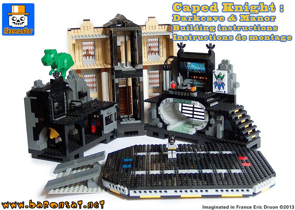 CREATIONS PERSONNELLES EN LEGO PAGE BATCAVE & MANOIR - CUSTOM LEGO ...