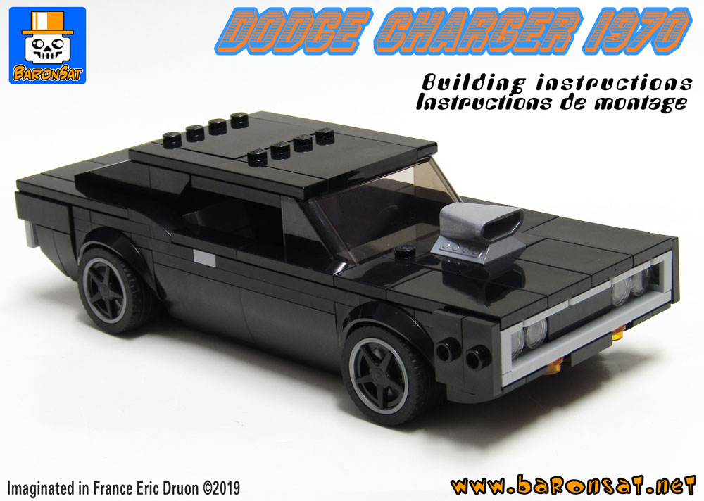 Lego Dodge Charger 1970 building instructions