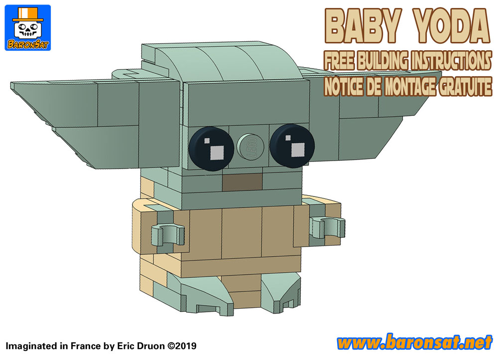 lego moc baby yoda free building instructions