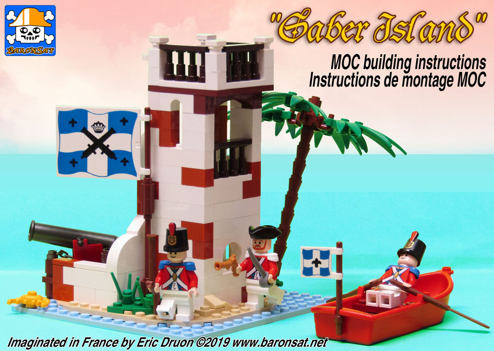 Lego moc Classic Pirates Saber Island Redux Free Instructions