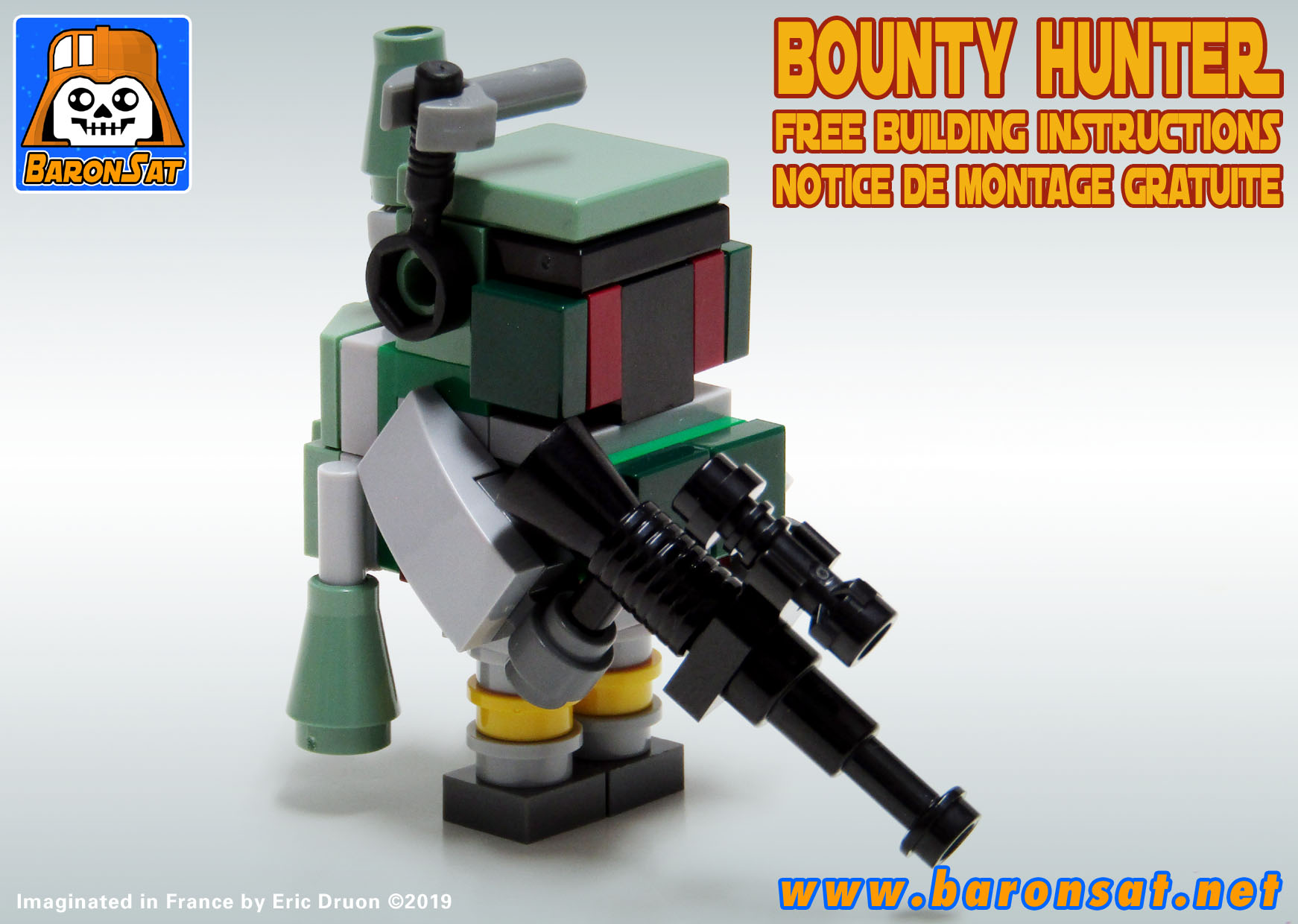 Lego moc Mini Boba Fett free Instructions