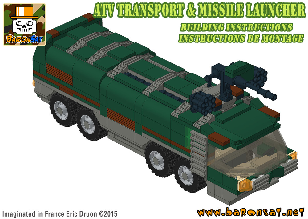 Lego moc Adventure 2000 ATV Transport custom model Building Instructions
