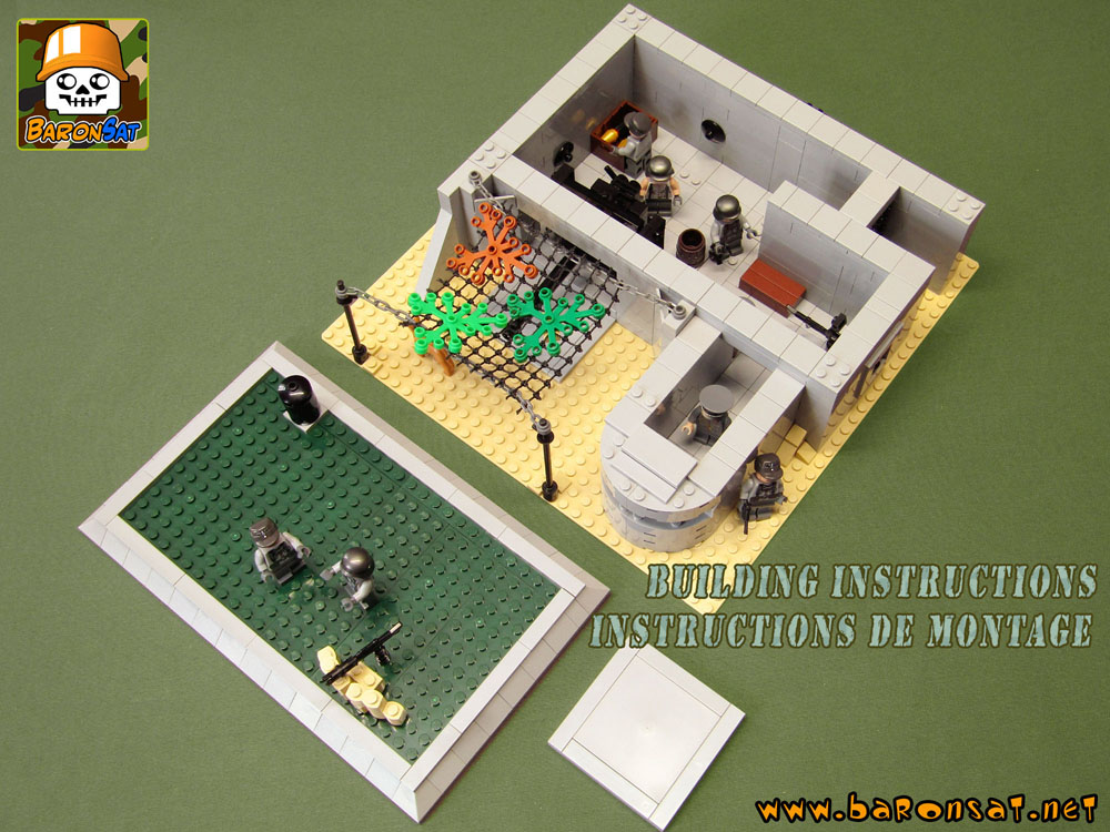 Lego Building Instructions for custom German Command Bunker
