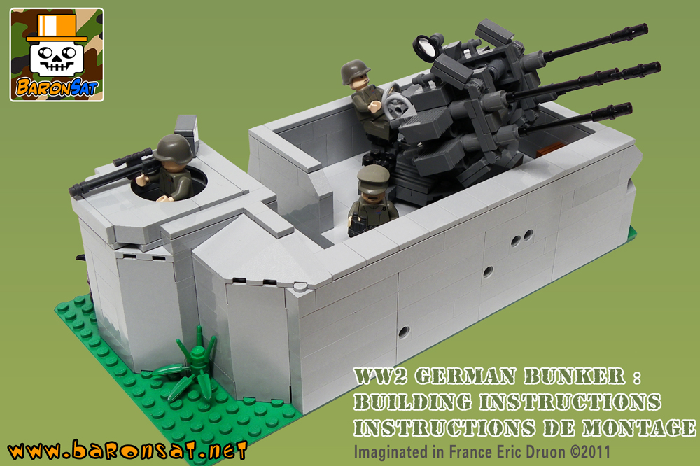 Military ww2 Lego bricks building instruction for custom
