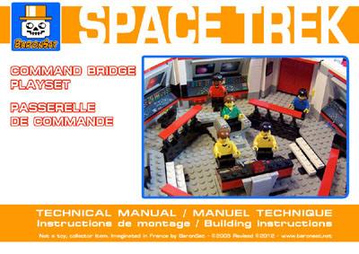 Lego moc Star Trek Classic Instructions Enterprise Commande Bridge