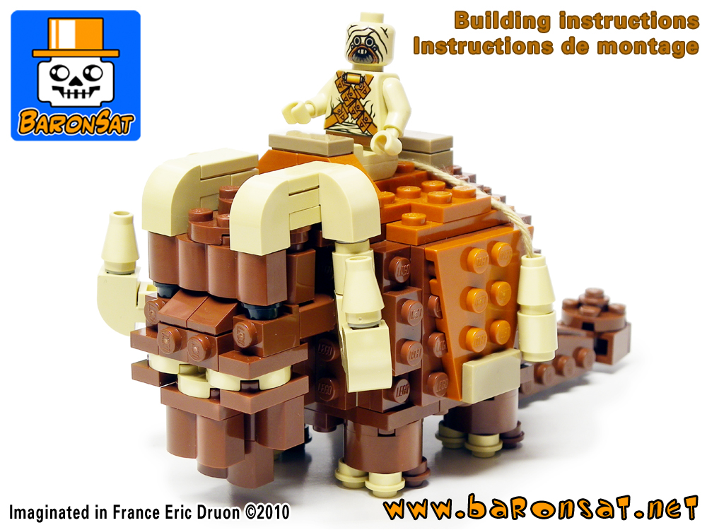 Lego moc Bantha Custom Model Building Instructions