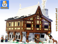 medieval inn playset custom moc models made of lego bricks