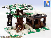 blacksmith forge playset custom moc models made of lego bricks