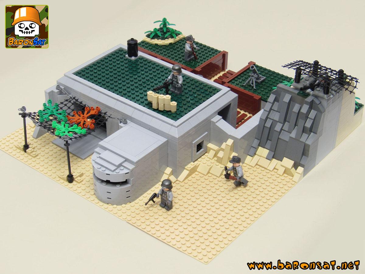 Lego Moc D Day Diorama With German Bunker Custom Brick Model