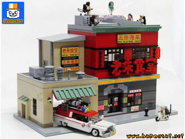 ghostbusters hq custom moc models made of lego bricks