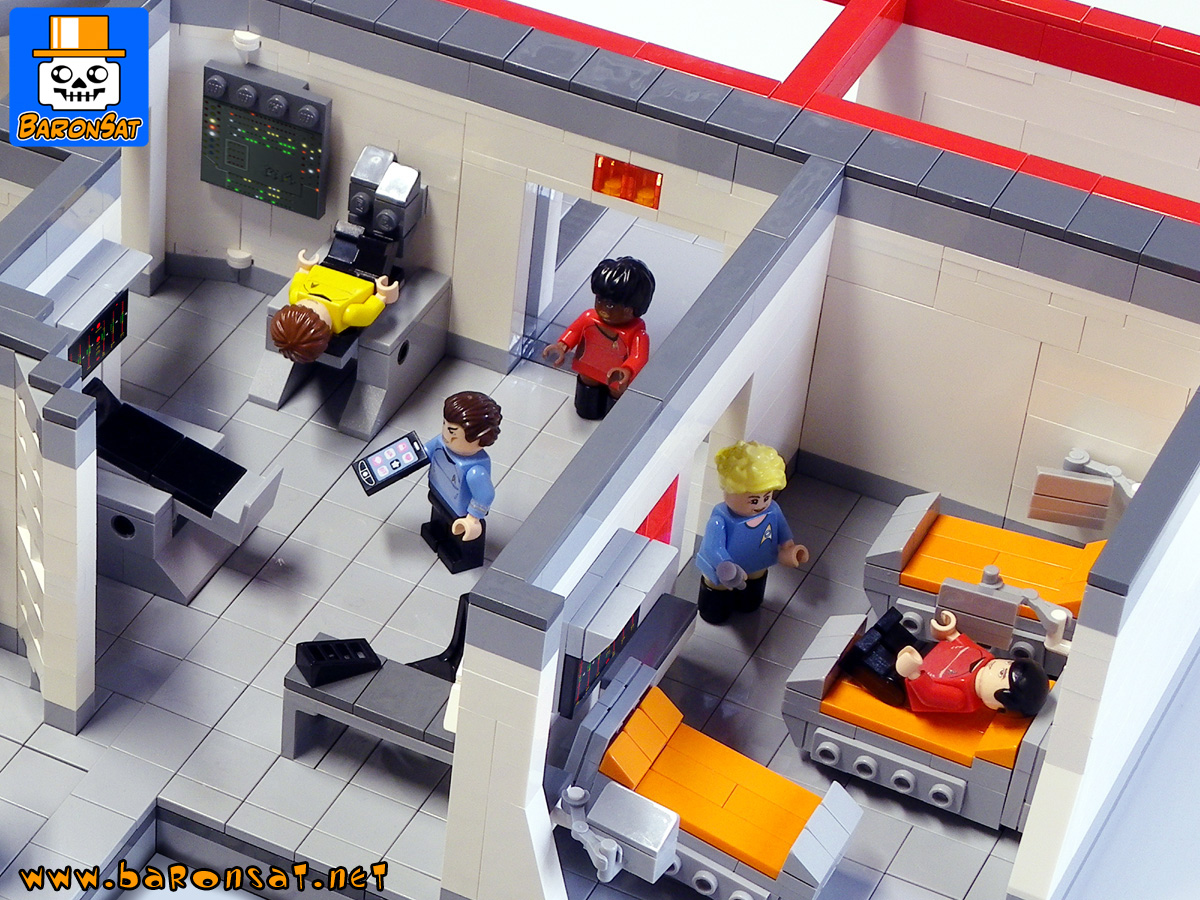 star trek tos custom moc models made of lego bricks