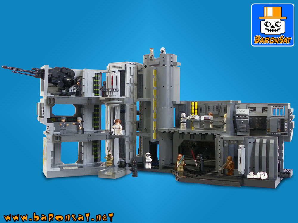 star wars death star custom moc models made of lego bricks